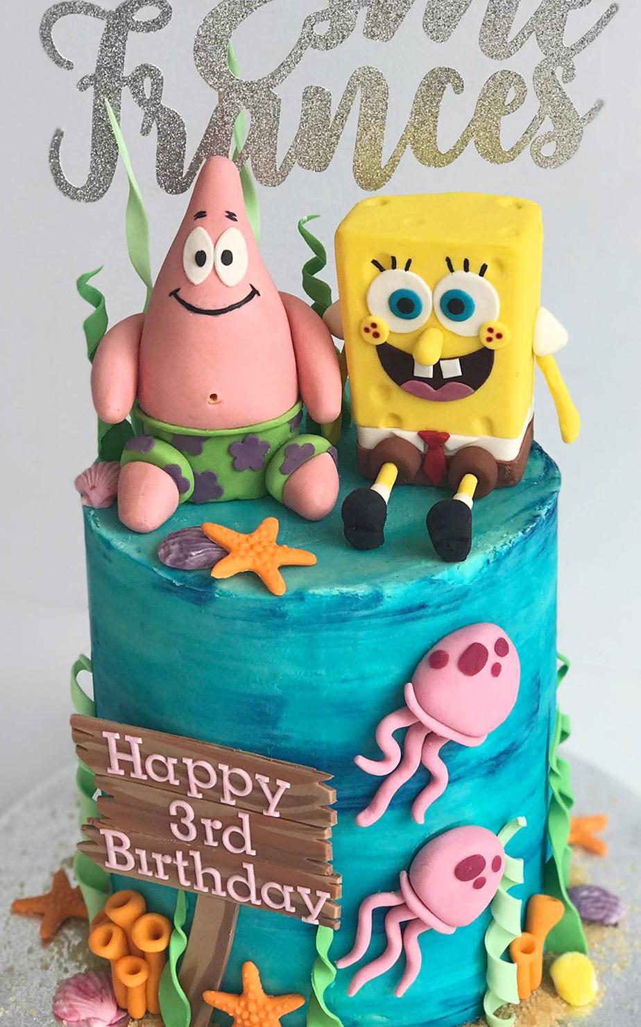Wondrous Spongebob Birthday Cake Celebration Cakes Antonias Cake Shop Funny Birthday Cards Online Aeocydamsfinfo