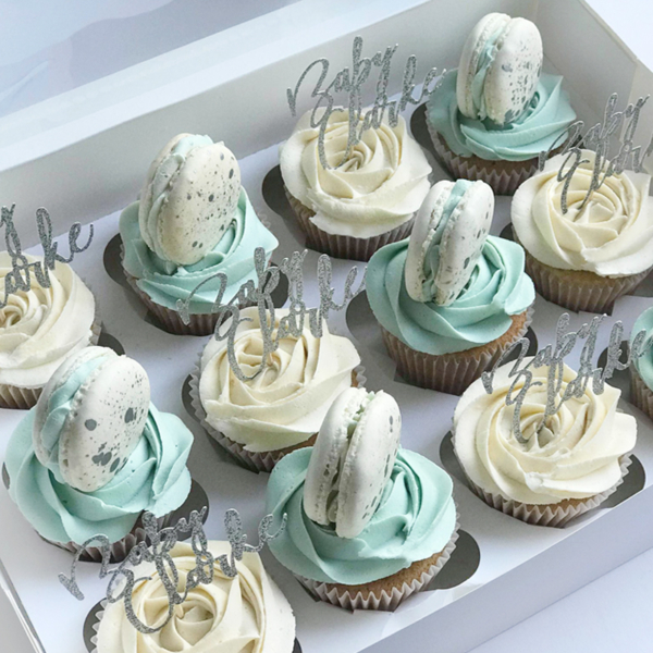 luxury cupcakes boys christening
