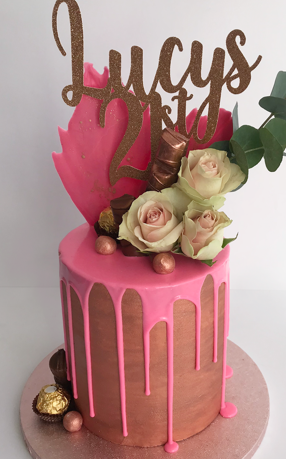 Phenomenal 21St Cake Girls Bespoke Celebration Cakes Antonias Cakes Cake Shop Personalised Birthday Cards Veneteletsinfo