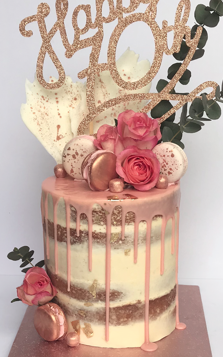 70th Birthday Cake, custom designer cakes - Antonia's Cakes
