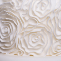 ruffle rosette wedding cake close up 1