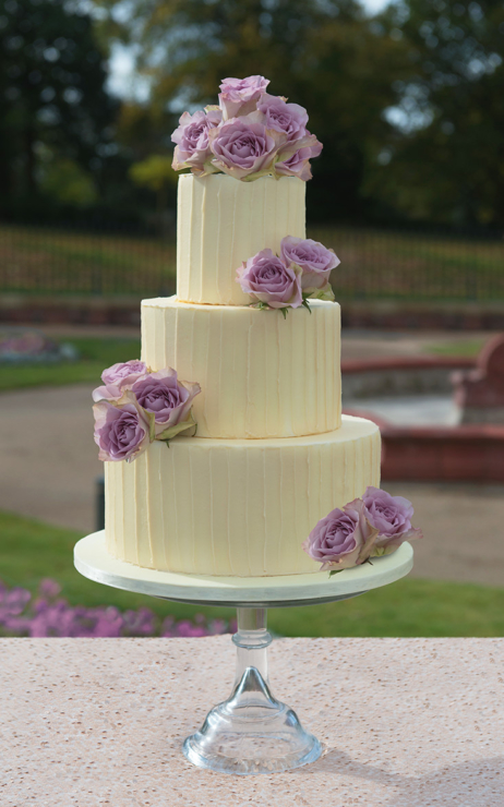 ganache fresh flower Rustic Wedding Cake
