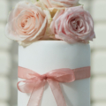 fresh flower rose bud wedding cake cupcake tower close up 1