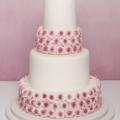 vintage rose pink wedding cake