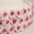 vintage rose wedding cake close up 1