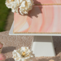 marble peony blush asian wedding cake clos up 2