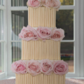 avalanche rose cigerello white chocolate wedding cake