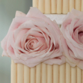 avalanche rose cigerello white chocolate wedding cake close up 2