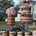 mini naked wedding cakes